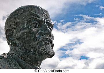 Lenin, estatua, en, Cavriago,