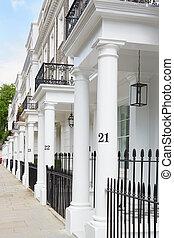 Row of White Edwardian Houses