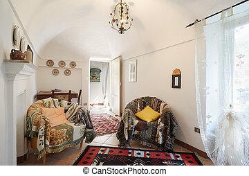 Living room, sunny interior - Living room, sunny simple...