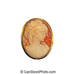 Beautiful Cameo Pin - Beautiful carved Cameo Pin