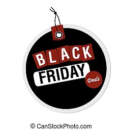 Black friday - Isolated label with text for black friday...