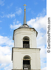 Belfry - Bell tower on the background of the sky