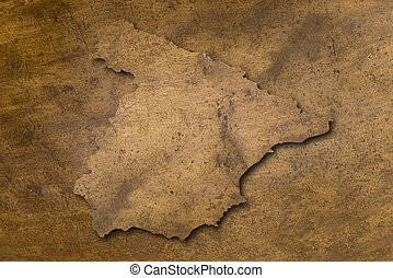 spain copper texture map - spain map on vintage bright...