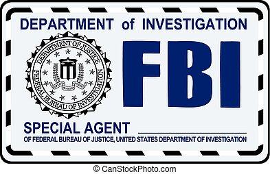 FBI Special Agent certificate. US Secret Service.
