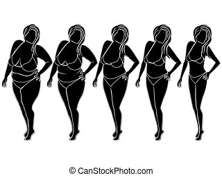 Woman on the way to slimming
