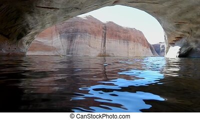 Lost Eden Lake Powell - Kayaker in Lost Eden Canyon Lake...