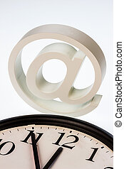 """email sign and clock - a clock that """"11:55"""" shows and an..."""