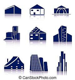 Real estate icon/logo set