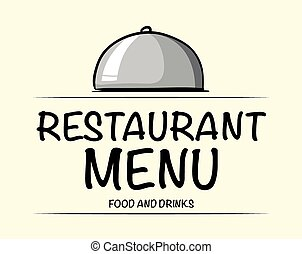 Logo design with restaurant menu