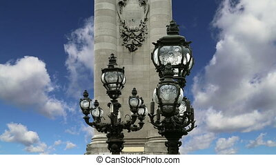 Alexander III bridge-Paris,France - Alexander III bridge -...