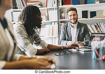 reunião, escritório