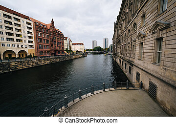 The River Spree, in Mitte, Berlin, Germany.