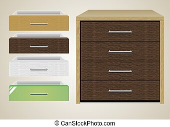 Chest of drawers 1. - Chest of drawers with different...