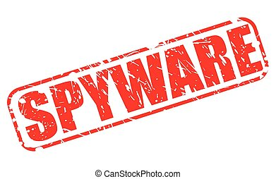 SPYWARE red stamp text on white