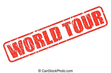 WORLD TOUR red stamp text