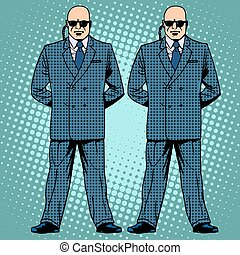 bodyguards cordon protection secret service agents pop art...