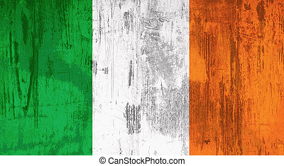 old ireland flag - Illustration of an old and dirty Ireland...