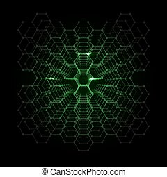 Abstract Futuristic Hexagonal Background - Abstract Vector...