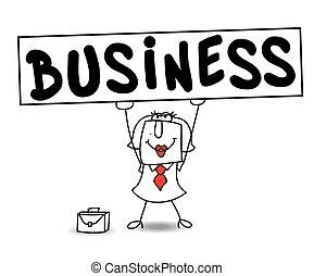 Business of karen - Karen, the businesswoman holds a big...