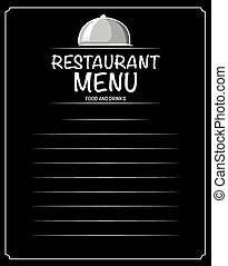 Paper design with restaurant menu