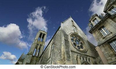 Saint Vincent Abbey.france, senlis - france, senlis,...