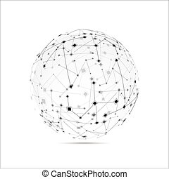 Abstract technology globe on the white background