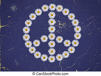 flower power - tyhe flower power symbol made in daisies...