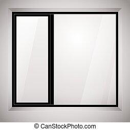 Fenster clipart schwarz weiß  Vektoren Illustration von tür, fenster, schwarz, abbildung ...