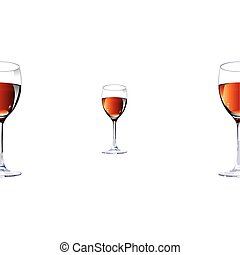 Three glasses with red wine.Vector