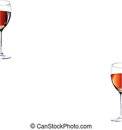 Two glasses with red wine.Vector