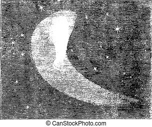 Telescopic view of Halley's comet, as it appeared on Nov. 5,...