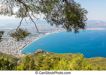 Panoramic view of Loutraki, Greece - Panoramic view of...
