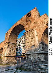 Arch of Galerius in Thessaloniki, Greece in a summer day