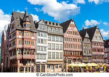 Old buildings in Frankfurt - Old traditional buildings in...