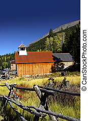 Old church in Colorado - Old church in Ghost town St Elmo in...