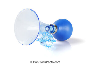 Plastic Bicycle Air Horn - Blue Plastic Bicycle Air Horn on...