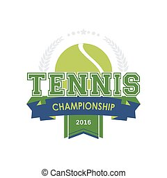 Tennis championship emblem vector. Design for your sport...
