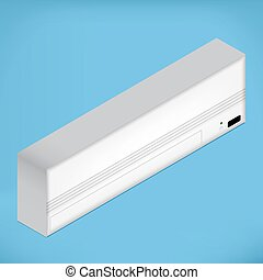 White isometric Airconditioner - White airconditioner for...