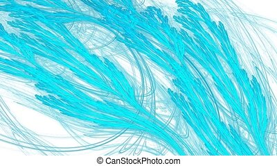 Cold breath. With alpha channel. - HD abstract fractal art...