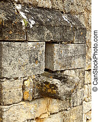 Arrow slit in medieval wall - Arrow slit aka arrow loop, in...