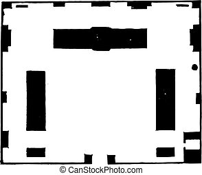 Map of the central pavilion of the infantry barracks of...