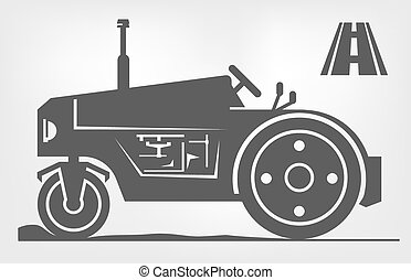 road roller icon - road roller icon on a black background