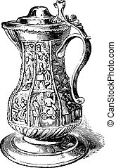 Pitcher from Shakespeare, vintage engraving - Pitcher from...