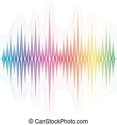 Abstract music equalizer. Vector