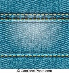 Seamless jeans texture, vector illustration for Your design,...