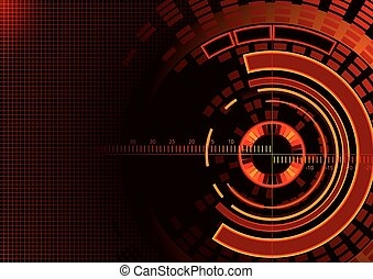 Abstract Technology Circles Backgro
