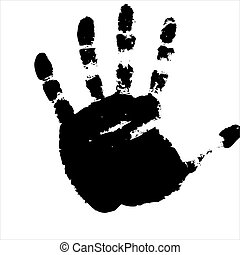 imprints of hand. Vector