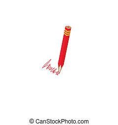 Red pencils.Vector illustration