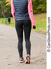 Woman getting ready for jogging
