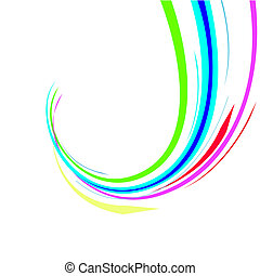 Abstract colour lines. Vector